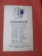 Kungsholm Miniature Grand Opera   Jan 1 Through July 4  1962   Ref  4998 - Advertising