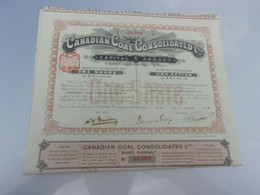 CANADIAN COAL (1910) - Non Classificati