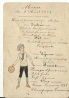 Menu         Aout 1903    F.C.R. PARIS 10.5  X 15 CM - Menükarten