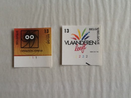 Nr.2277/2278  Ong.  Dynamiek Van De Gewesten ( Met Plaatnummers 1 En 2). - Non Dentelés
