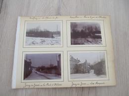 X 8 Photos Originales Amateur Collée Sur Carton Alberville Viroflay Versailles Jouy En Josas  Gare Chemins De Fer - Luoghi