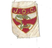 BLASON , ECUSSON TISSU  50X 70 J O C  ( JEUNESSE OUVRIERE CHRETIENNE - VERS ANNEE 1930 1940 - Organisations