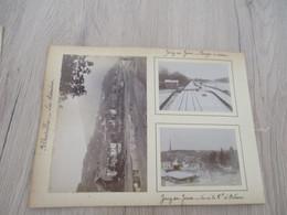 X 7 Photos Originales Sur Carton Alberville Bureau Tram Porte Bineau Versailles Train Chantiers Jouy En Josas  Levallois - Luoghi