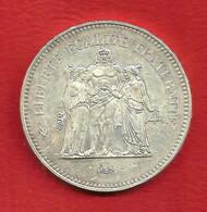 50 Francs ARGENT 900% , HERCULE , 1974 , N° Franc 427-2 Ou Gadoury 882 , Etat: TTB+/SUP , Voir Scans - M. 50 Francs