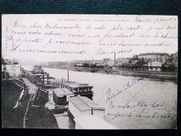 78, Mantes ,la Seine Et Ses Bateaux D'hydrothérapie En 1903 - Autres Communes