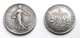 COPIE - 1 Pièce Plaquée ARGENT ( SILVER Plated Coin ) - France - 1 Franc Semeuse 1900 - H. 1 Franco