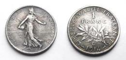 COPIE - 1 Pièce Plaquée ARGENT ( SILVER Plated Coin ) - France - 1 Franc Semeuse 1914 C - H. 1 Franco