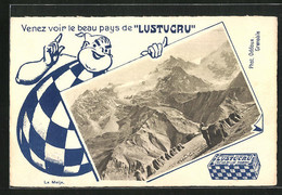 AK Reklame Für Lustucru, Alpen-Panorama - Advertising