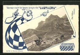 AK Reklame Für Lustucru, Col Du Glandon - Advertising