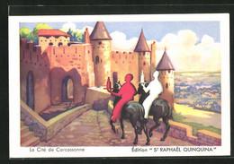 Künstler-AK Carcassonne, La Cité, Reklame Für St Raphael Quinquina - Advertising