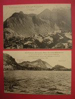 L'Andorre Mystérieuse Les Pyrénées Inconnues 2 Cpa Pics & Cols éditeur Dr A.Marcailhou D'Aymeric  Dos Scanné - Andorre