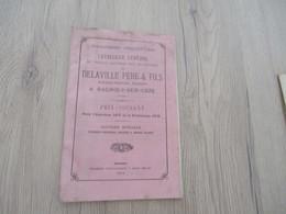 Catalogue Pub Publicité Végétaux Delaville Bagnols Sur Cèze Gard Pépinière 1875 40 Pages - Publicités