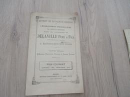 Catalogue Pub Publicité Végétaux Delaville Bagnols Sur Cèze Gard Pépinière 1872/1873 18p - Publicités