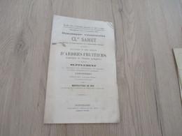 Catalogue Pub Publicité 1877 Montpellier Claude Sahut Horticulture Arbres Fruitiers Asperges Conifères 11 P - Publicités