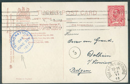 1p. Rouge Obl; Mécanique De LONDON F.S. Sur Carte (Coronation Souvenir Couronnement Du 22 Juin 1911) + Sc Bleu CORONATIO - Covers & Documents