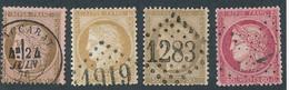 EC-321: FRANCE: Lot Avec N°54/57 Obl, 1er Choix - 1871-1875 Ceres