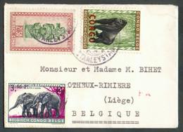 Enveloppe Avec Sa Petite Carte De Visite (voeux De Nouvel An) Affr. 6Fr.50 De STANLEYVILLE Vers Otheux (BE).. - 18377 - 1947-60: Lettres