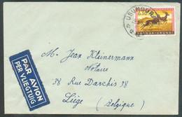 6Fr.50 Obl. Sc USUMBURA Sur Lettre Par Avion Du 29-3-1962(?) Vers Liège. . - 18378 - 1948-61: Briefe U. Dokumente