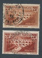 EC-325: FRANCE: Lot Avec N°262 Obl-262A Obl (TB) - Used Stamps