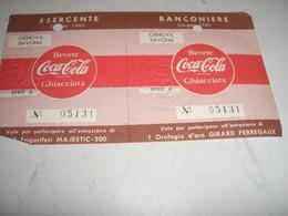 BIGLIETTI COCA COLA PER PARTECIPARE AL CONCORSO 1960 - Cartes Postales