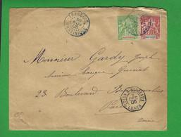 LETTRE MARTINIQUE FRANCOIS 1905 Avec N° 44 Et 45 - Briefe U. Dokumente