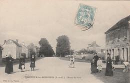 CPA:CHAUFOUR LES BONNIÈRES (78) AUBERGISTE ROUTE DE PARIS ANIMÉE...ÉCRITE - Other Municipalities