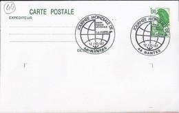 44 - LOIRE ATLANTIQUE - NANTES/JOURNEE MONDIALE DE L'UPU - TàD De Type ILL. PETIT MODELE De 1987 - Manual Postmarks