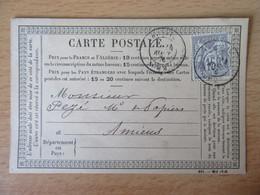 France - Timbre Sage 15c N°66 Sur Précurseur Entre Abbeville Et Amiens - CàD 1876 - 1849-1876: Période Classique