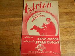 "CINEMA:PARTITION MUSICALE ""ADRIEN"" AVEC FERNANDEL - Other"