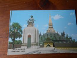 Laos   Ventiane That Luang Lot 3 CPM Procession Ouverture De La Fete  TBE - Laos