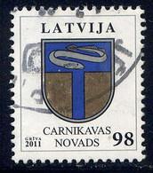 LETTONIE  - 774° - ARMOIRIES DE CARNIKAVAS NOVADS - Lettland
