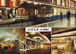 PARIS        H509        ( 4 Vues ) Le RER - Nahverkehr, Oberirdisch