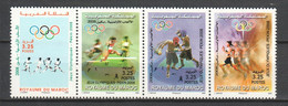 Morocco 2008 Mi 1620-1623 MNH SUMMER OLYMPICS BEIJING 2008 - Summer 2008: Beijing