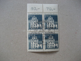Bund Michel 500 Viererblock Esst Große Bauwerke Oberrand (5954) - Gebraucht