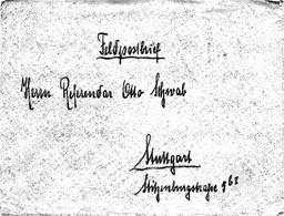 Cover Kais.Deutsche Marine Briefstempel II. U.-Boothalbflotille Helgoland_Stuttgart - Covers & Documents