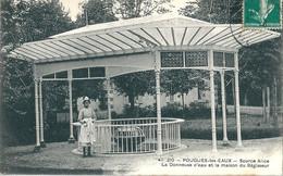 POUGUES-les-EAUX  ( 58 )  -  Source Alice  -  La Donneuse D' Eau Et La Maison Du Régisseur . - Pougues Les Eaux
