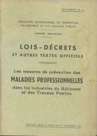 Lois-decrets Et Autres Textes Officiels Concerant Les Mesures De Prévention Des Maladies Professionnelles Dans Les Indus - Droit