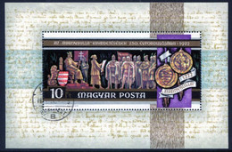 HUNGARY 1972 Millenary Of Szekesfehervar Block Used.  Michel Block 92 - Used Stamps