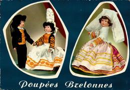 Dep 29 , Cpm Poupées BIGOUDENNES Et BRIGNOGAN , 3530 (28715) - Brignogan-Plage