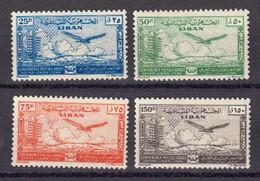 Liban 1946 Poste Aerienne Yvert 11 / 14 ** Neufs Sans Charniere - Líbano