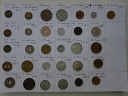 Lot De 31 Pièces Françaises (1922 à 1997) - Lots & Kiloware - Coins