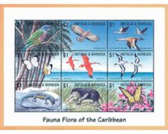 Ref. 280834 * MNH * - ANTIGUA AND BARBUDA. 2002. CARIBBEAN FAUNA AND FLORA . FAUNA Y FLORA DEL CARIBE - Antigua And Barbuda (1981-...)