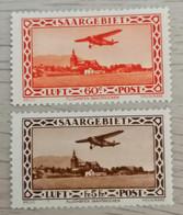 Saargebiet 1932 Flugpostmarken Satz Mi 158-159 MH *  KW 60€ - Nuovi