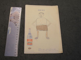 EAU DE SPA - MENU ANNEES 30 - AVEC DESSIN D'ENFANT GEORGES ANDRE LE 1/3/1937 - Menükarten