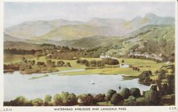 Postcard - Waterhead Ambleside And Langdale Pikes  - Unused - Very Good - Unclassified
