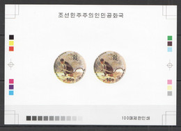 BB089 IMPERFORATE 1999 KOREA YEAR OF MONKEY !! RARE 100 ONLY PROOF PAIR OF 2 MNH - Chinese New Year