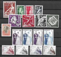 Monaco Poste Aérienne YT N° 28/31, N° 51/54, N° 71/72, N° 73/78 Et N° 90A Neufs ** MNH. TB. A Saisir! - Airmail