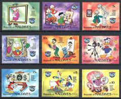 MWD-BK5-281-2 MINT PF/MNH ¤ MALDIVES 1984 9w In Serie ¤ THE WORLD OF WALT DISNEY -- 50th ANNIVERSARY OF DONALD DUCK - Disney