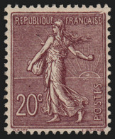 N°131, Semeuse Lignée 20c Brun-lilas, Neuf ** Sans Charnière - TB - Unused Stamps