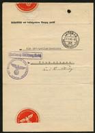 LEIPZIG C 2 F 1940, STEMPEL SAUBER UND KLAR AUF AUSZUG STRAFREGISTER - Machine Stamps (ATM)